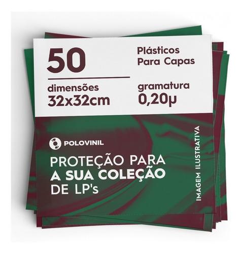 50 plasticos capa de lp discos vinil 0.20 extra grosso