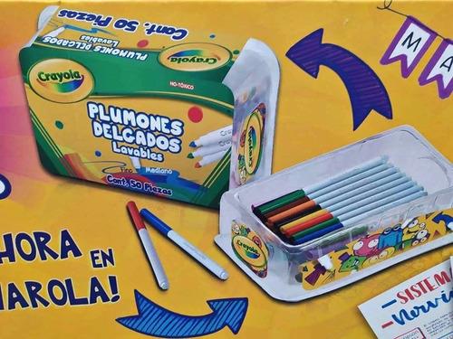 50 plumones crayola marcadores delgados lavables super tips