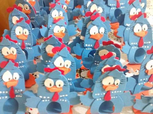 50 porta bombom galinha pintadinha