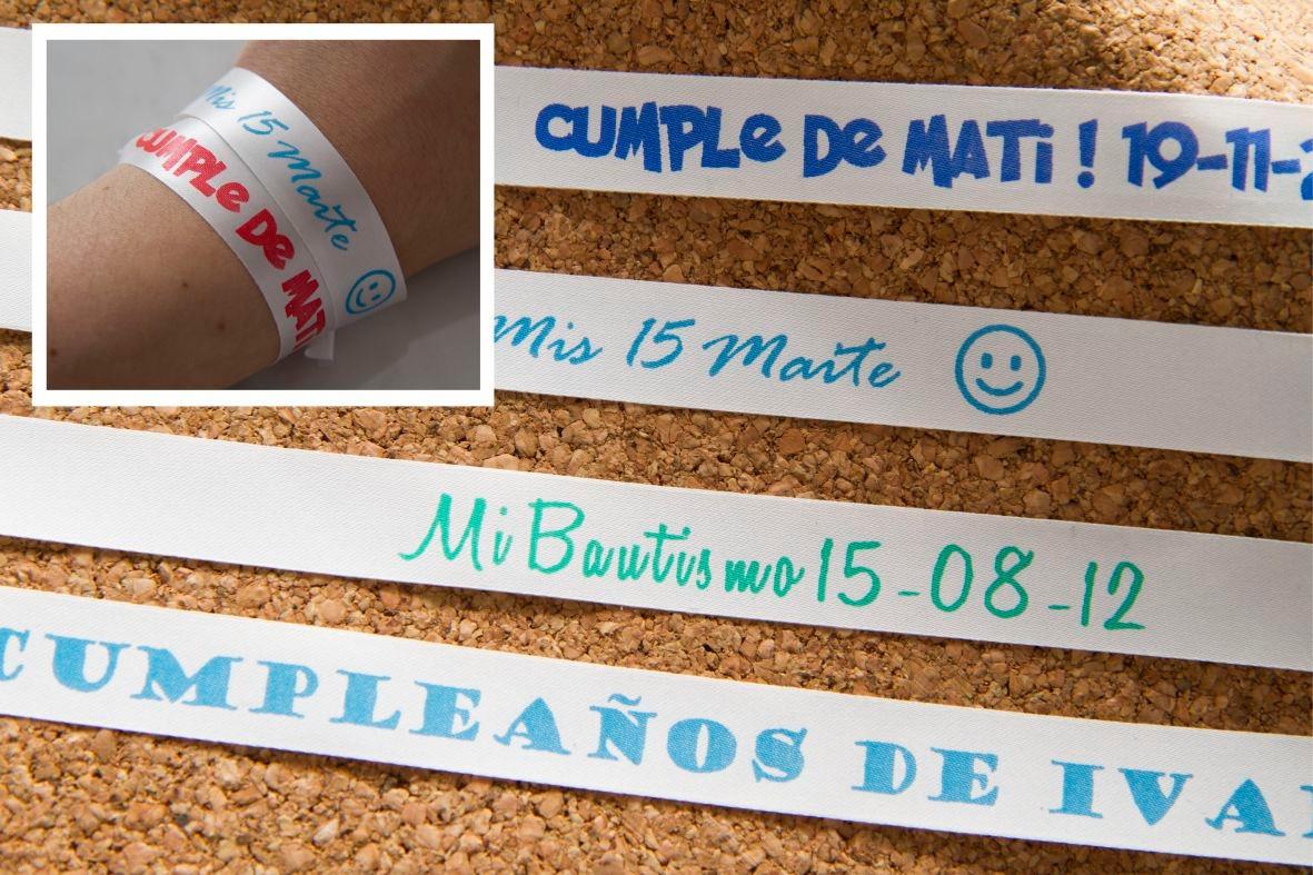 e2c3382a9731 50 Pulseras Cintas Personalizadas A Tu Eleccion! P  Eventos! -   128 ...