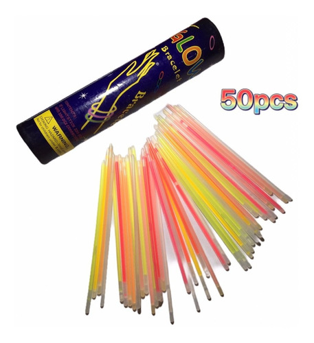 50 pulseras neon cyalume luminosa glow fiesta boda batucada