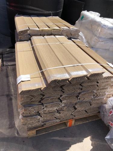 50 pza esquineros carton kraft  2 x 2 pulgadas  x 2 mts