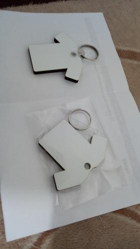 50 pzas llavero de mdf listo para sublimar por ambos lados figura a elegir por el cliente