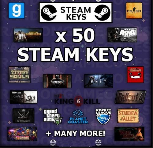 50 random steam key + 5 bonus
