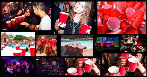 50 red cup party copo americano vermelho r$0,36un festas
