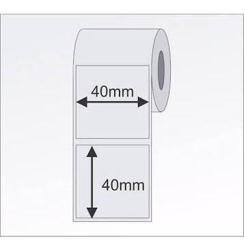 50 rolos etiqueta 40x40 p/ balança