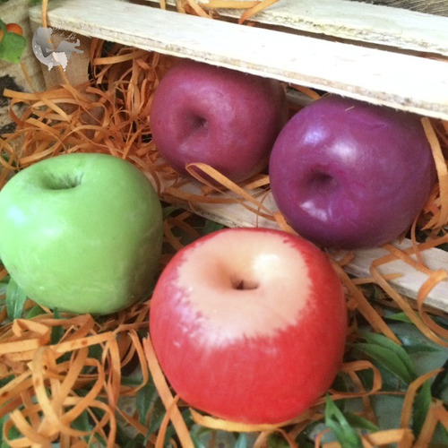 50 sabonetes maçã média 4,5 cm diametro