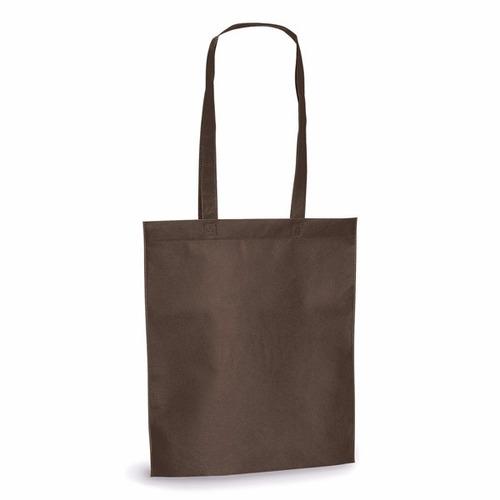 50 sacola tnt 80g/m² - 27x35cm com alça de 55 cm
