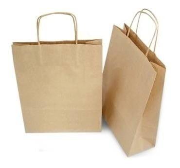 50 sacolas alça torcida média 18 x 22 x 8 cores