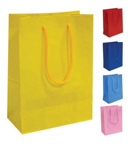 50 sacolas de papel unicórnio 25x17x6cm bolsa festa 90g