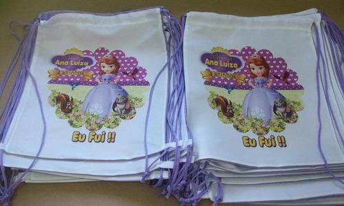 50 sacolinha tipo mochilinha, mochila personalizada 30 x 20