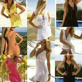 8c3386a39 Vestido Malha Malwee - Cangas de Praia com o Melhores Preços no Mercado  Livre Brasil