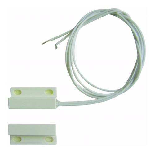 50 sensor magnético com fio p/ alarme porta janela duplaface