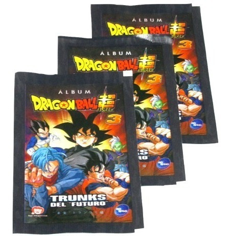 50 sobres de láminas de dragon ball super 3 + envío gratis