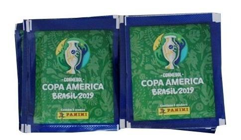 50 sobres del álbum panini copa américa brasil 2019 +envío