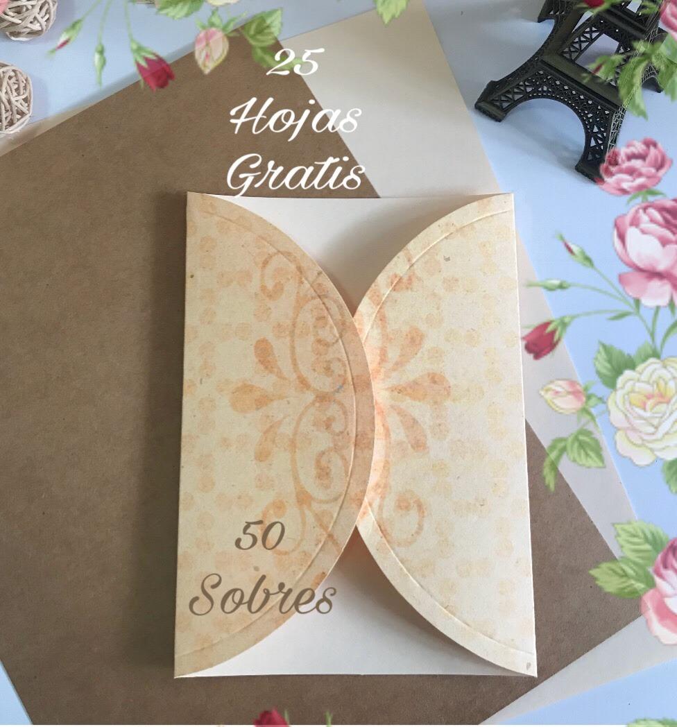 50 sobres para invitaciones kraft  boda 15 a u00f1os
