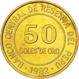 50 soles de oro 1982 sin lima