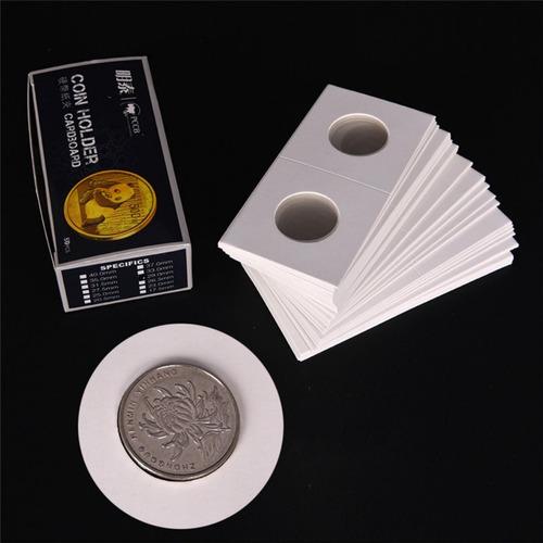 50 soportes holders cartón para monedas