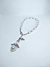 0607b272baf2 50 Souvenirs Pulsera Denario Angel Angelit Bautismo Comunión