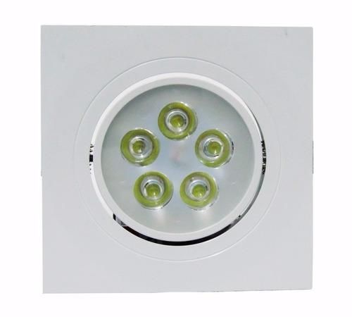 50 spot quadrado de embutir led 5w lampada bivolt branco qt