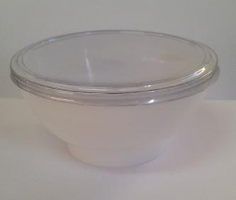 50 taça acrílica 150ml branco c/ tampa- max 1kit p/ compra
