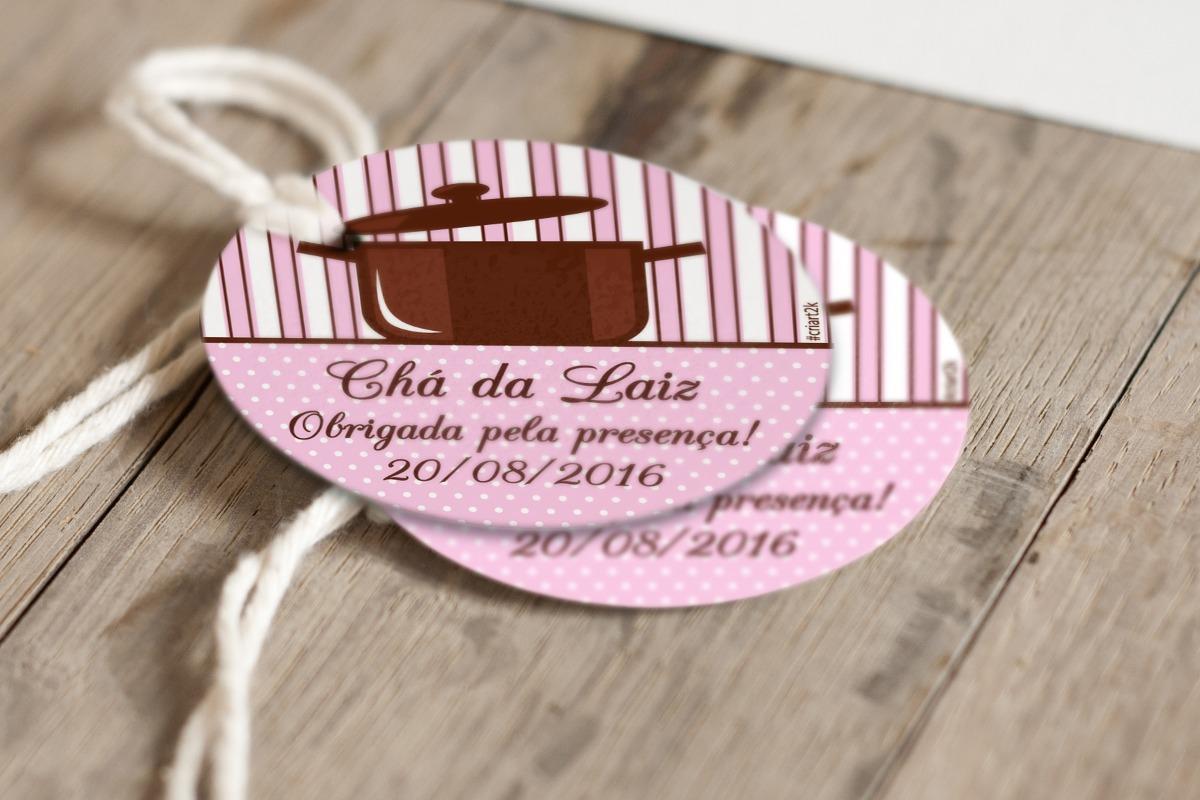 50 Tags Personalizadas Para Lembrancinhas Cha De Panela R 18 50