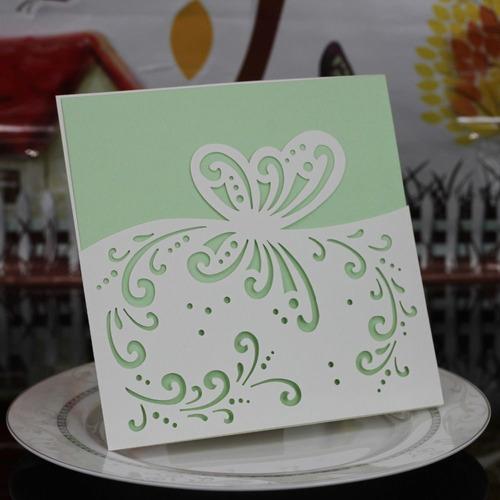 50 tarjetas  boda mas personal  15 años con sobre calado m33