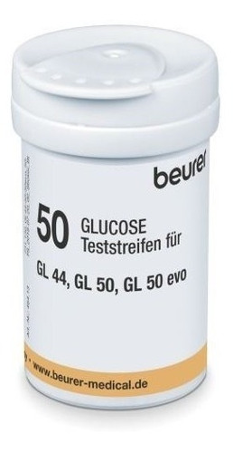 50 tiras reactivas p/ glucómetros gl44 gl50 gl50 evo beurer