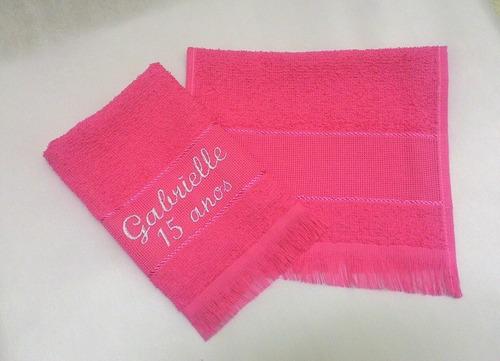 50 toalhas com nome p/ debutante; promoção