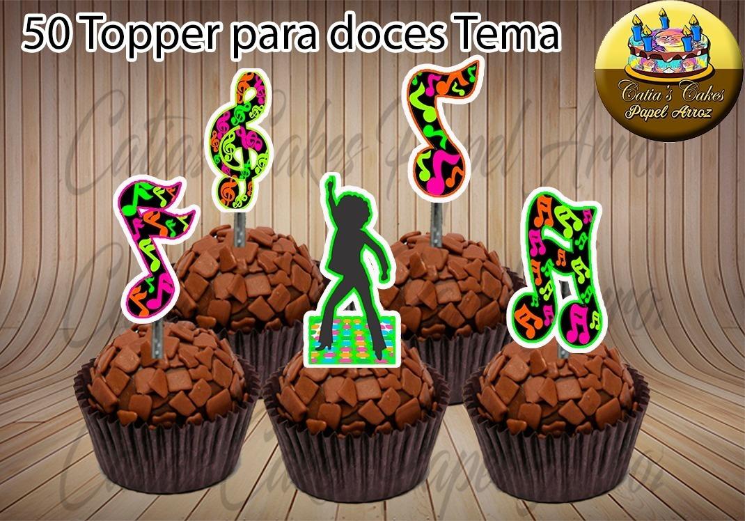 50 Topper Tags P Doce Balada Anos 60 70 80 Neon Mod 03 R 26 99