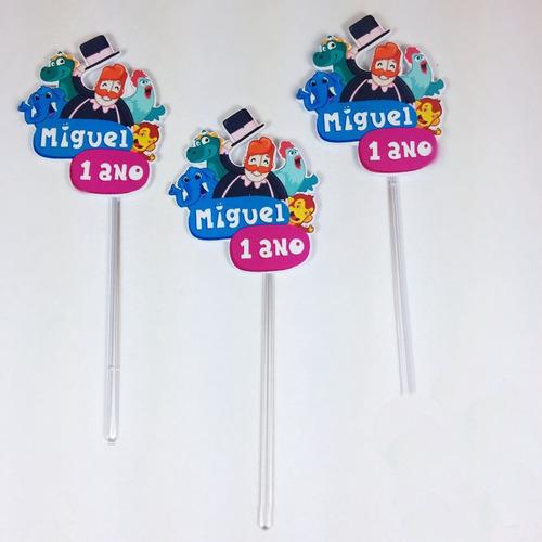 50 toppers para doces mundo bita em 3d