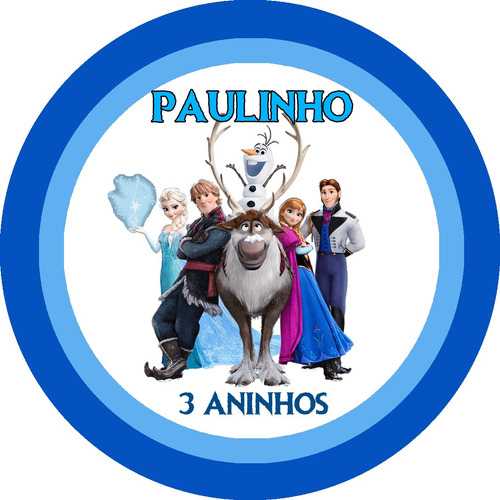 50 toppers personalizados frozen / toppers frozen