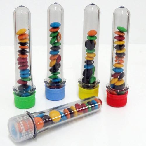 50 tubos golosineros 14cm souvenirs infantiles candy