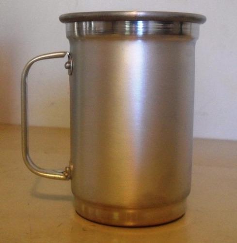 50 un. canecas de aluminio 500 ml sem personalizaçao