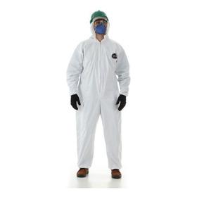 50 Un Macacão Branco Proteção Contra Bactérias Impermeável