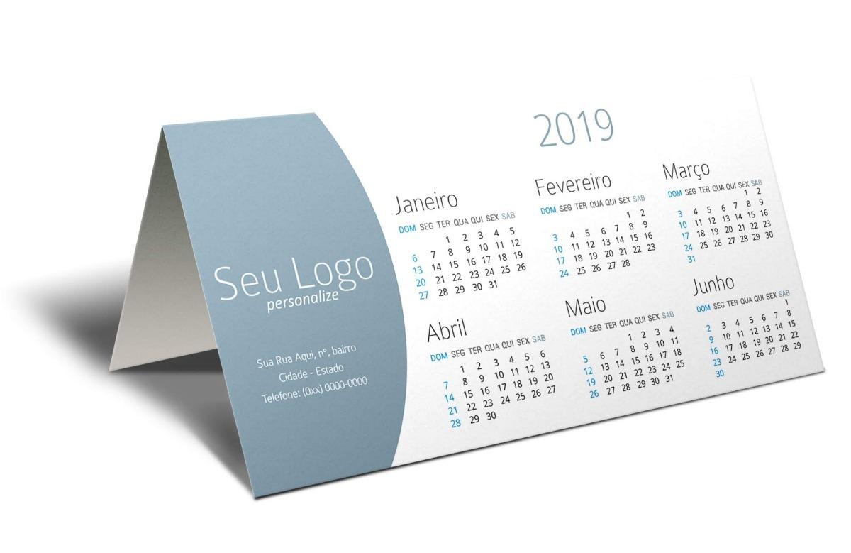 90800ba91 50 unds calendário de mesa 2019 personalizado pvc brinde. Carregando zoom.