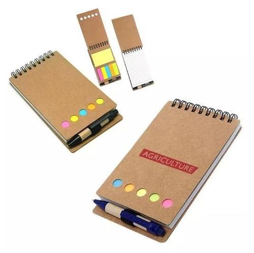 50 unid bloco de anotações com caneta e post-it