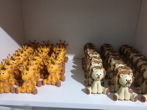 50 unid - lembrancinhas ou apliques biscuit safari