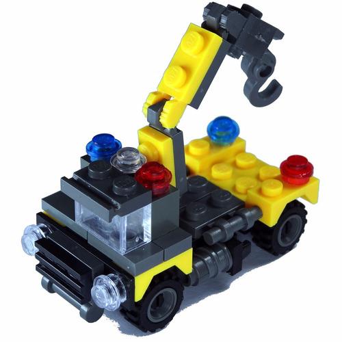 50 unidades blocks de construcción camión grúa