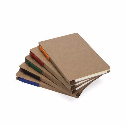 50 unidades bloco de anotações ecológico, c/post-it + caneta