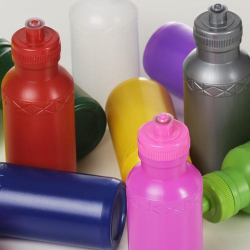50 unidades squeeze 500ml plástico personalizado silk 1 cor
