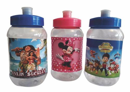 50 vasos cilindros personalizados fiestas infantiles