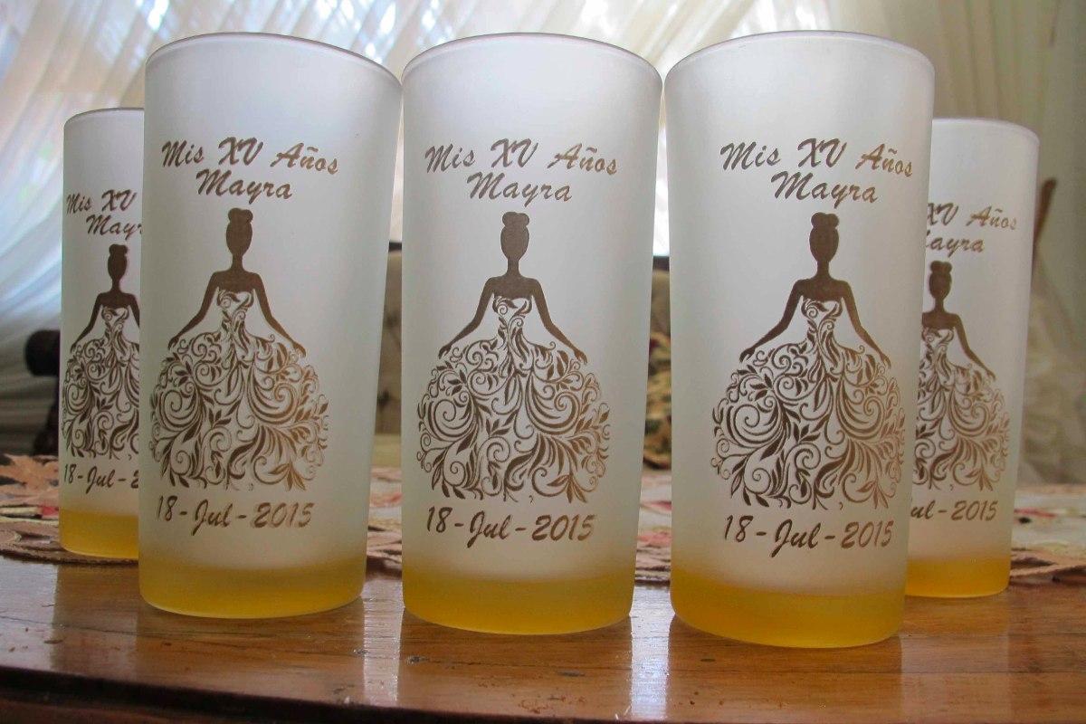 50 vasos personalizados recuerdo boda xv a os bautizo for Cuanto sale hacer una pileta de material 2016