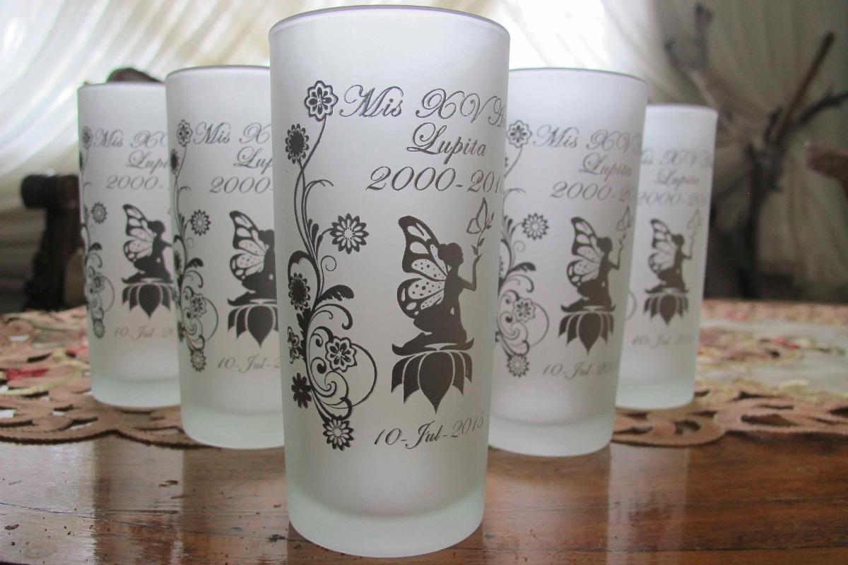 50 Vasos Personalizados, Recuerdo Para Xv Años Con Envio