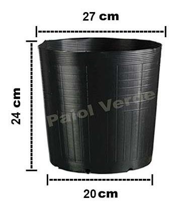 50 vasos pote para mudas plastico 9 litros