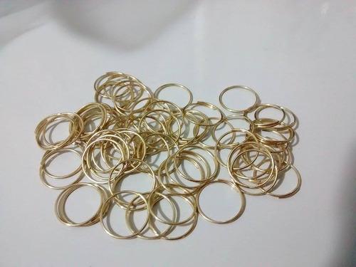500 argolas em aço inox dourada montagem de lustres 10mm