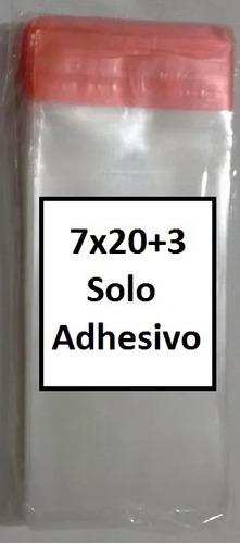 500 bolsas celofan 7x20 solo adhesivo