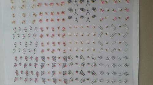 500 cartelas de adesivos 100% artesanais p/unha atacado