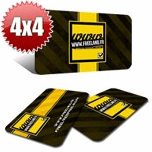 500 cartão de visita pvc branco 0,30mm