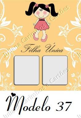 500 cartão filha única adesivo de unha artesanal
